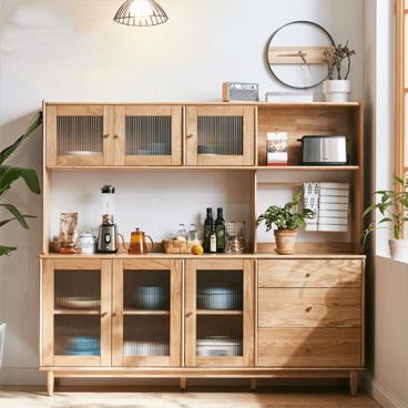 Tủ bếp gỗ tự nhiên gia đình Chị Hạnh Quận 9